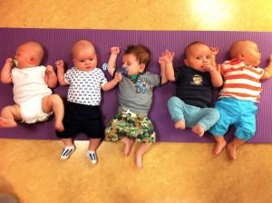 Vijf vriendjes op een rij
